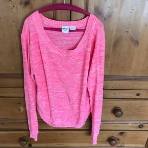 Roux Girl hot pink sweater